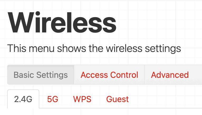 Wireless Settings